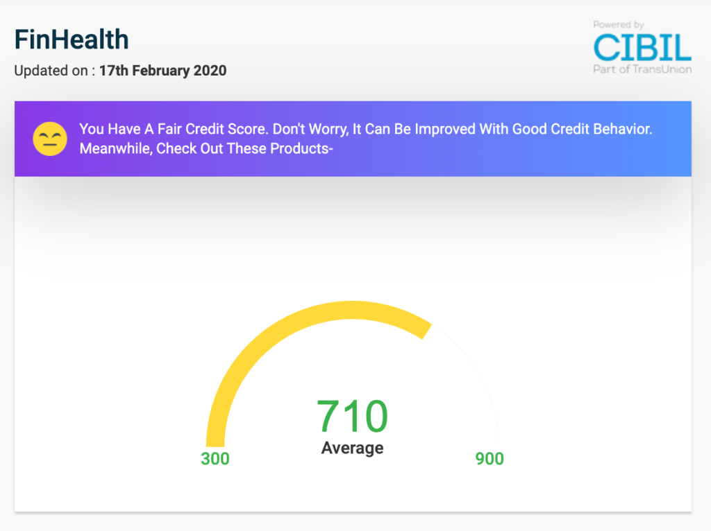 Check Credit Score CIBIL Free in India